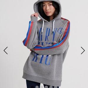 BNWT Superdry grey glitter oversized sweatshirt